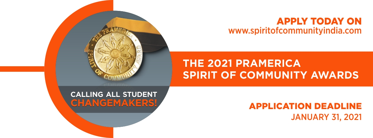Applications invited for The 2021 Pramerica Spirit of Community Awards